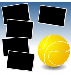 tennis photo adventure vector image