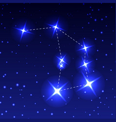 The constellation of the altar in the night starry vector