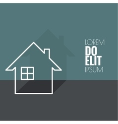 The symbol of a dwelling house vector