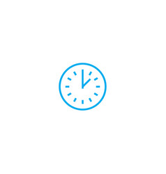 time control linear icon concept time control vector image