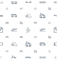 Transportation icons pattern seamless white vector