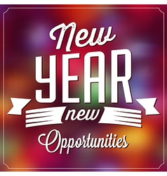 Typographic New Year Background vector