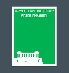 Victor emmanuel italy monument landmark brochure vector