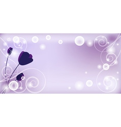 Whimsical purple background vector