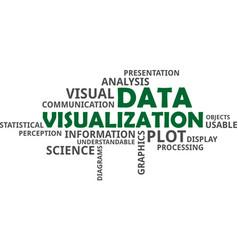 Word cloud - data visualization vector