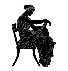 Young greek women vector
