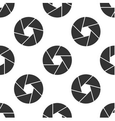 camera shutter icon seamless pattern on white vector image vector image