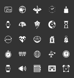 Design time icons on gray background vector image