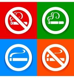 No smoking area - Stickers vector image vector image