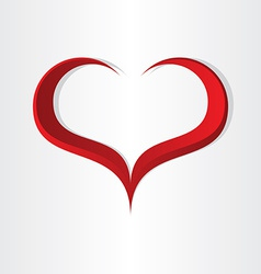 red heart shape abstract icon design vector image vector image