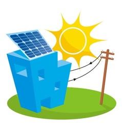 solar house vector image vector image