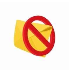 Spam warning icon cartoon style vector image vector image