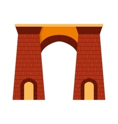 Arch isolated on white vector image vector image