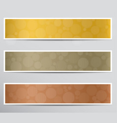 banners with bokeh effect vector image vector image