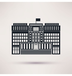 Courthouse icons in a flat style vector image