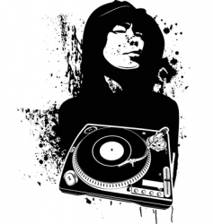 graffiti DJ background vector image vector image