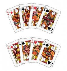 poker jack and queen vector image