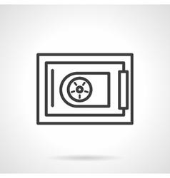 Cash safe black line icon vector image vector image