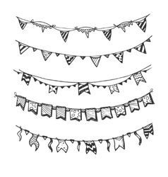 Holiday garlands with light bulbs party lights and vector image vector image