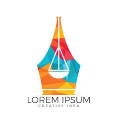law education logo vector image