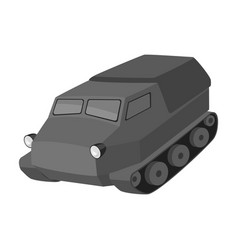 tank for the marshes caterpillar transport of vector image