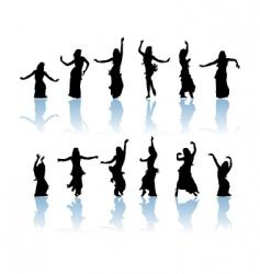 woman dancers vector image