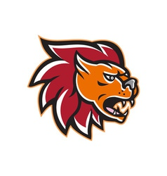 Angry Lion Big Cat Head Side vector image vector image