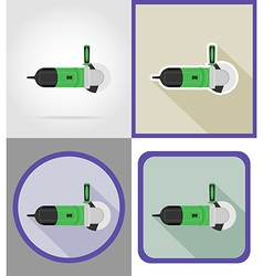 electric repair tools flat icons 06 vector image vector image
