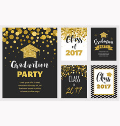 graduation class of 2017 party invitations vector image