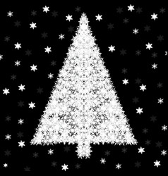 abstract christmas tree of snowflakes vector image