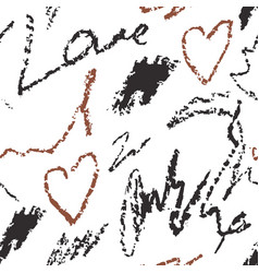 abstract seamless pattern with hand drawn writing vector image