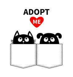 Adopt me dont buy dog cat in pocket pet vector
