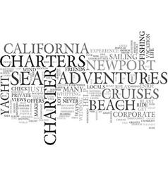 adventures at sea newport beach text word cloud vector image