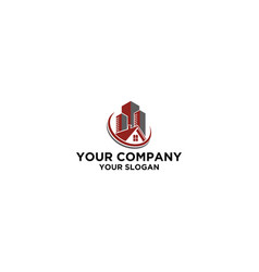Apartment house real estate logo design vector