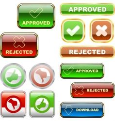 approved and rejected elements vector image
