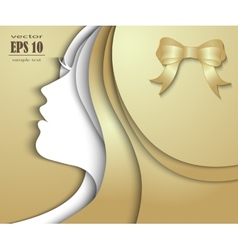 Beautiful girl with golden hair vector image
