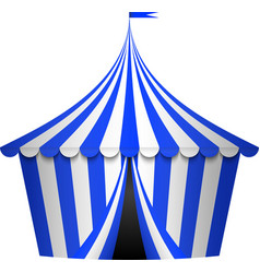 Blue circus tent vector