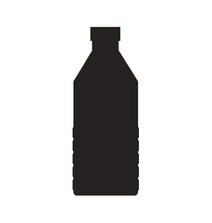 bottle of water icon food drink flat vector image