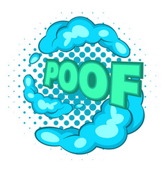 bubble with expression poof icon pop art style vector image