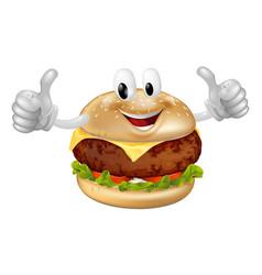 burger mascot vector image