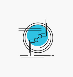 Chain connect connection link wire line icon vector