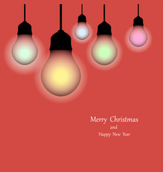 christmas lights holiday background merry vector image