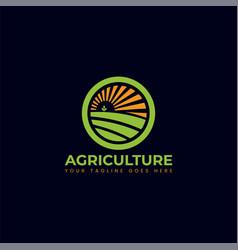 Circular agriculture logo design vector