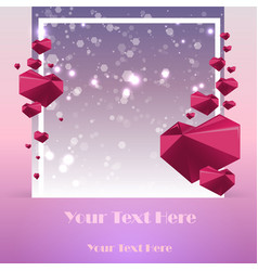 creative valentines day card template with vector image