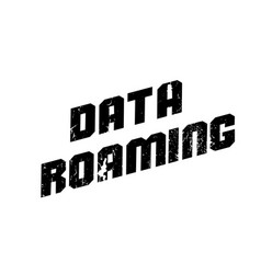 Data roaming rubber stamp vector
