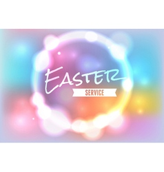 Easter Service Glow vector image