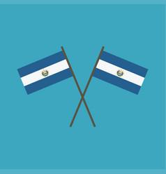 el salvador flag icon in flat design vector image
