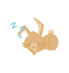flat icon of little sleeping bunny vector image