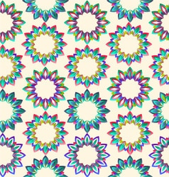 Flower geometric floral beautiful vector