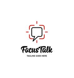 focus talk logo vector image